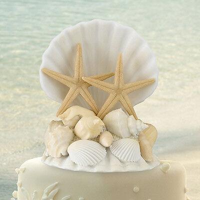 Seashell Beach Ocean Theme Wedding Cake Topper