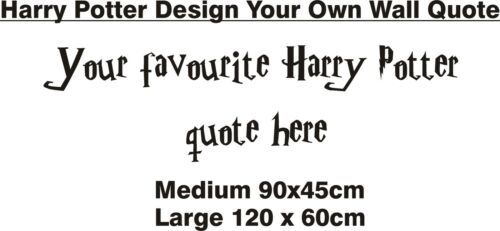 3 SIZES 22 COLOURS! HARRY POTTER DESIGN YOUR OWN WALL ART STICKER