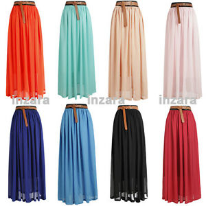 2012-Women-Chiffon-pleated-Retro-Long-Elastic-Waist-Maxi-Dress-Skirt-8-Colors