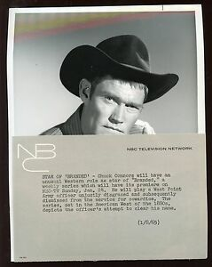 Original Jan 8th 1965 Chuck Connors The Rifleman Wire Photo