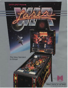 1987-DATA-EAST-LASER-WAR-PINBALL-FLYER-MINT
