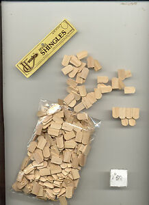 Wood Fishscale Shingles Half Scale 1 24 Dollhouse Roof