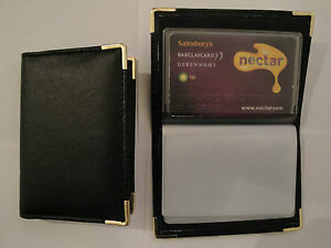 SALE-NEW-LEATHER-CREDIT-CARD-HOLDER-WALLET-HOLD-UP-TO-32-CARDS