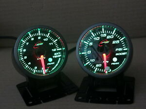 Turbo-boost-gauge-Suit-Isuzu-Dmax-2008-to-2015-RHS-only-GREEN-option