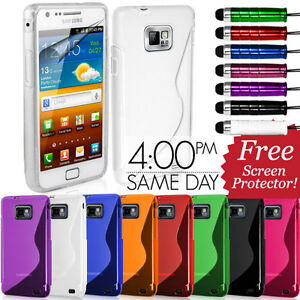 GRIP-S-LINE-SILICONE-GEL-CASE-FITS-SAMSUNG-GALAXY-S2-i9100-FREE-SCREEN-PROTECTOR