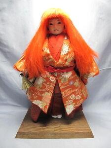 Japanese-vintage-doll-KABUKI-Boy-Lion-Dancer-Red-Hair-4112
