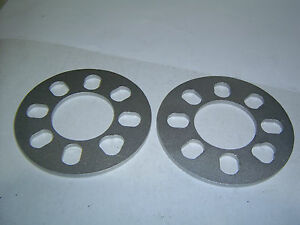 4-Stud-Universal-Wheel-Spacers-6mm-Car-Trailer-Etc-Sent-Registered-Post