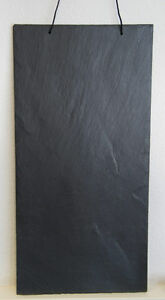 2-Stk-natur-Schiefer-Schiefertafel-MEMOBOARD-Tafel-60x30cm-Schieferplatten
