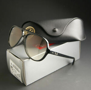 NEW-RAY-BAN-CATS-5000-SUNGLASSES-GLOSSY-BLACK-w-GREY-GRADIENT-RB4125-601-32-59MM