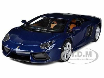 Box Damaged LAMBORGHINI AVENTADOR LP700-4 BLUE 1/24 DIECAST MODEL MAISTO 31210
