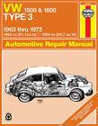Repair Manual Haynes 96040 fits 66-73 VW Fastback