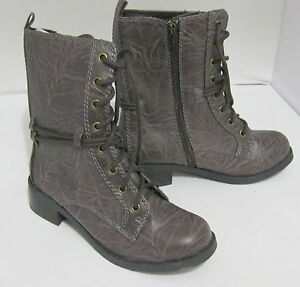 New-brown-1-5-034-low-heel-combat-sexy-ankle-lace-up-boots-size-6-5