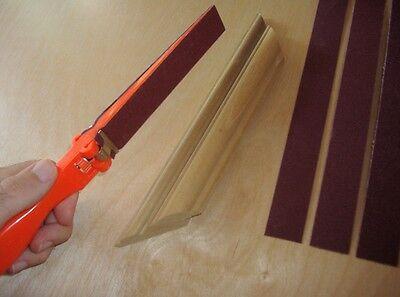 Woodworking Sanding File w 80, 120, 160, & 240 grit Sandpaper 9x11 Detail Sander