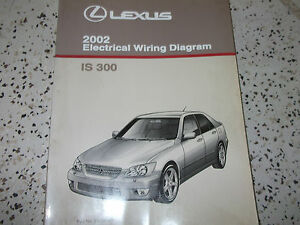 2002 lexus is300 is 300 electrical wiring diagram service shop repair manual x ebay. Black Bedroom Furniture Sets. Home Design Ideas