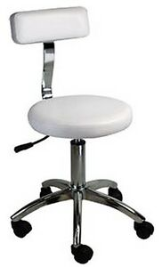 Hydraulic-Stool-With-Backrest-Beauty-Salon-Spa-Massage-Facial-Chair-ST002C-WHITE