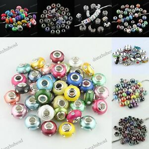 MIXED-COLORS-BIG-HOLE-EUROPEAN-CRYSTAL-BEADS-FIT-CHARM-BRACELET-WHOLESALE-LOTS