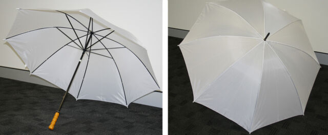 """30"""" Golf Umbrella White single - PMA212"""