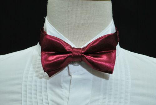 Infant Toddler Boy Adjustable Satin Black Bow tie 4color for Formal Tuxedo Suit