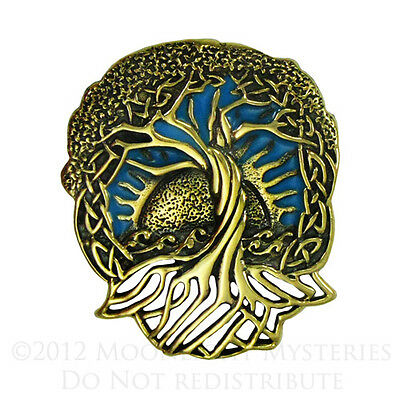 Bronze Celtic Tree of Life Pendant Wiccan Pagan Yggdrasil Necklace Jewelry
