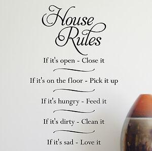 HOUSE-RULES-Wall-Sticker-Wall-Art-WA277X