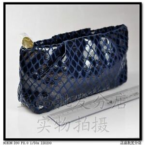 Estee-Lauder-Blue-Cosmetic-Makeup-Bag-Pouch-Clutch-NEW