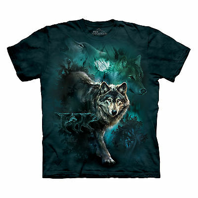 THE MOUNTAIN NIGHT WOLVES SIZE XXL 2XL WOLF COLLAGE HOWLING  PACK HUNTER T SHIRT