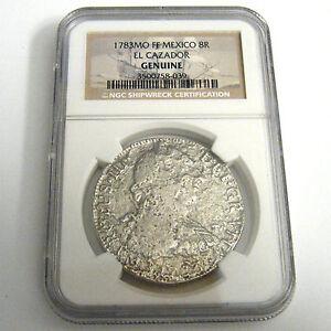 Americas-1st-Silver-Dollar-1783-MO-FF-8R-El-Cazador-Shipwreck-NGC-COA