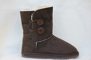 Ugg-Boots-2-Button-Synthetic-Wool-Colour-Chocolate-Size-7-Lady-039-s