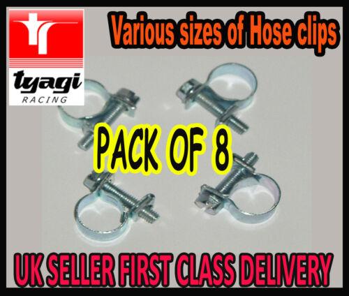 Pince clips tuyau tuyau d/'air tuyau essence Clip Pinces Tuyau Ligne Carburant jubilé clips