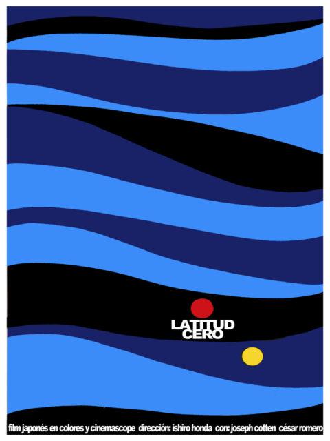 Latitud cero, Latitude zero Decoration Poster.Graphic Art Interior design 3481