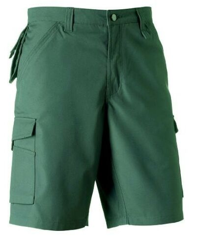 MENS HEAVY DUTY CARGO COMBATS WORKWEAR WORK SHORTS ARMY TROUSERS RUSSELL TEFLON