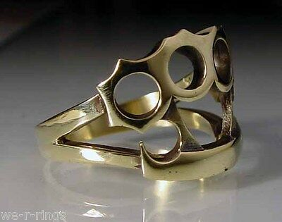 Brass Knuckle Dusters Ring  POLISHED BRONZE    RG02/B