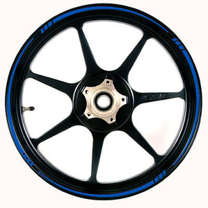 Blue Reflective Speed Tapered Wheel Rim Tape Stripe Fit