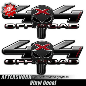 Black X Skull Truck Decal Off Road Sticker Set Compatible With - 4x4 truck decals