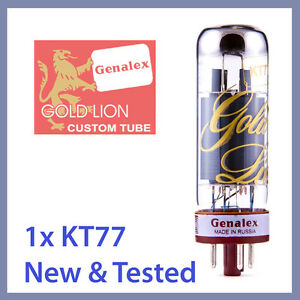 1x-NEW-Genalex-Gold-Lion-KT77-Power-Vacuum-Tubes-EL34-6CA7-TESTED