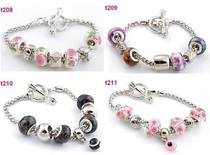 4-mixed-handmade-porcelain-bead-special-clasp-European-charm-bracelet-t208-211