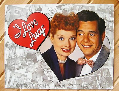 I Love Lucy and Desi Photo TIN SIGN vtg classic show metal poster wall decor 632