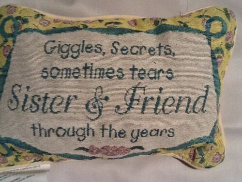Tapestry Throw Pillow Words Afghan Giggles Secrets Sometimes Tears Word Pillow