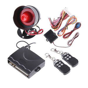HOT-1-Way-Car-Alarm-Protection-Security-System-with-2-Remote-Control-NEW-YC1