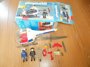 Playmobil-3908-POLICE-HELICOPTERE-BOITE-NOTICE-COMPLET