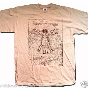 Leonardo Da Vinci T Shirt Vitruvian Man Cult Graphic