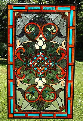 """20"""" x 34"""" Home Decor Large stunning Tiffany Style stained glass window panel"""