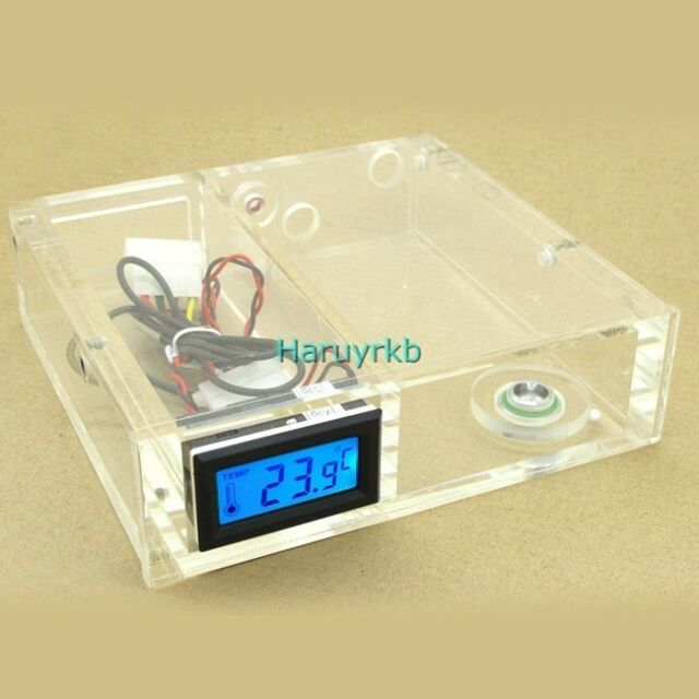 """5.25""""  CD-Rom Water Tank W/ Digital Thermometer F/ Computer Water Cooling System"""