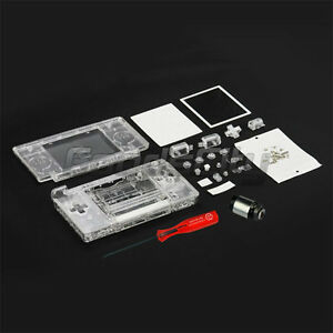 Clear-Crystal-FULL-HOUSING-CASE-FOR-NINTENDO-DS-Lite-Hinge-Tool-US