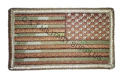 US Army MultiCam Reverse Flag Velcro Uniform Patch Made in The U.S.A. * New *