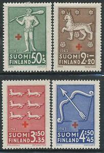Finland-1943-MNH-Red-Cross-Coat-of-Arms-Scott-B54-57