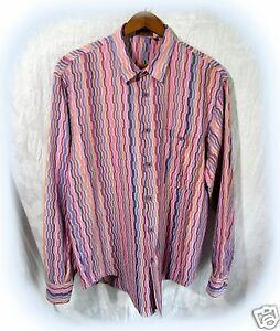 Vintage-MISSONI-Orange-Label-Mens-50-Long-Sleeved-SPRING-Button-Front-Shirt