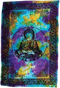 Buddha Tapestry Wall Hangings new! huge 6' x 9' tie dye buddha tapestry blanket bedspread wall