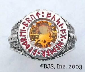 BADALI-Hobbit-Dwarven-Ring-Of-Power-Silver-034-Faux-Topaz-034-LOTR-Tolkien-IN-STOCK
