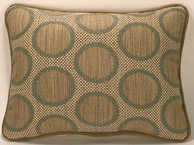 "2 12"" X 16"" Seafoam Green Raised Chenille Circle Pattern Designer Throw Pillows"